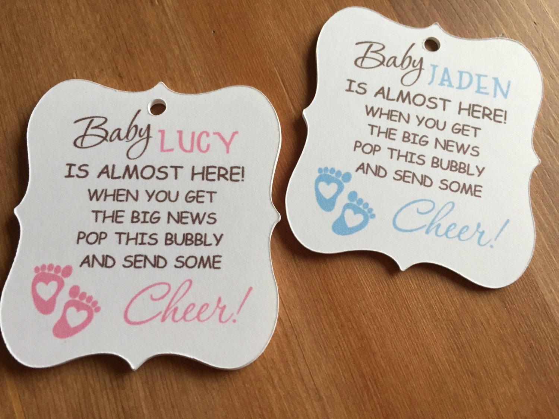 Baby shower champagne favor tagspumpkin favor tagssnowflakes - Baby shower favor tags ...