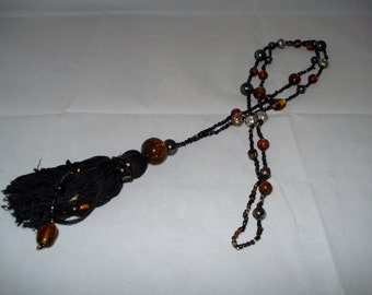 REDUCED tassel and bead necklace