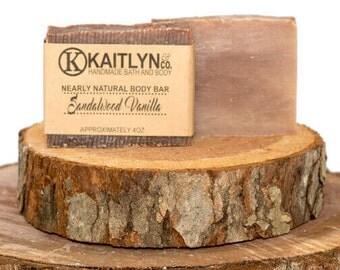 Masculine Soap, Handmade, Sandalwood Vanilla