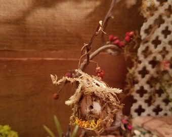 Fairy garden birdhouse/ dollhouse