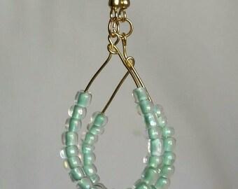 Seafoam green teardrop earrings