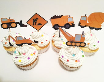 Construction Themed Cupcake Toppers