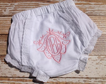 Monogrammed Baby Bloomer