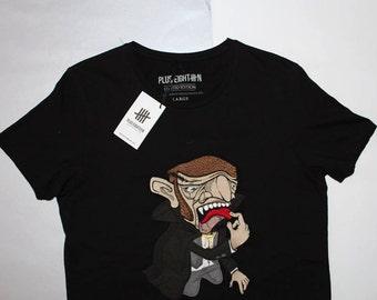 """fantastic men's t-shirt """"plus eighteen"""" ,size -L"""