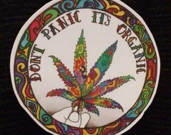 Don't Panic It's Organic Vinyl Sticker