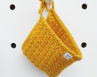 Crocheted pixie bonnet