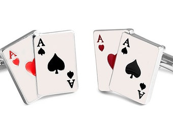 Cufflinks Poker Cards