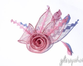 Small and fine! Dark pink Fascinator