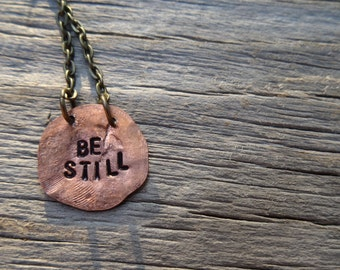Be Still Copper Necklace