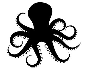 Octopus  svg, Octopus eps, Octopus silhouette, Octopus file, cutting files, instant download, Octopus silhouette file, cutting files