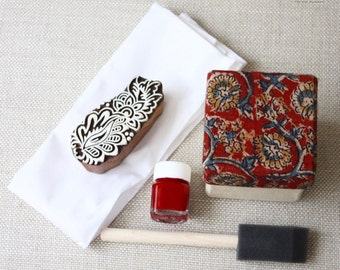 Hand carved Wood Block Print stamp India