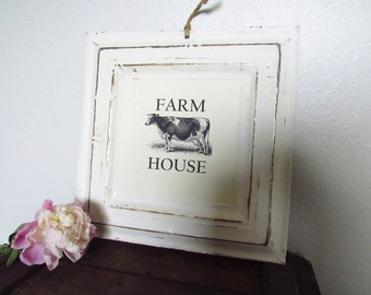 Vintage Inspired Metal Sign - Farm House