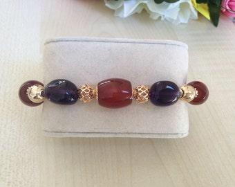 Beautiful bracelet with carnelian and Amethyst!
