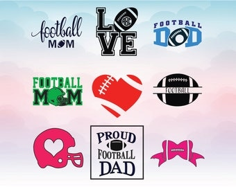 Football mom, Football dad, Love Football, Football bow monogram, Football SVG vector, Dxf Eps Pdf Png for Cameo an Cricut, vinyl designs