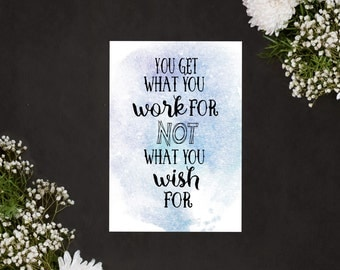 A4 Print: Work not Wish