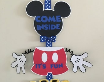 Mickey Mouse hanging door sign