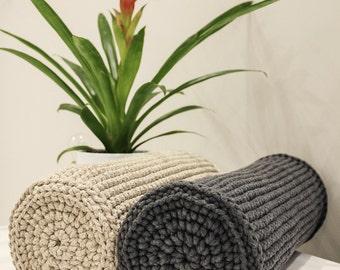 Beautiful knitted bolster pillow