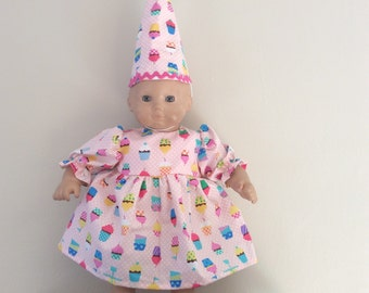 Bitty baby birthday hat and dress