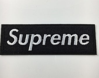 Black Supreme Clothing- Iron on Embroidered Patch