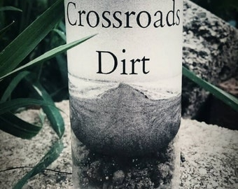 Crossroads Dirt, Hoodoo, Voodoo, Wicca, Pagan, Witchcraft, Conjure, Ritual, Gris Gris, Mojo Bag, Legba, Hecate