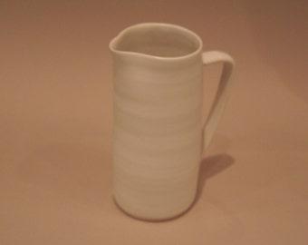 Medium siized white stoneware jug