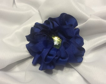 Girls Navy Blue Peace  Barrette