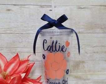 Flower Girl Gift, Personalized Flower Girl Cup, Flower Girl Tumbler, Bridal Party Gift, Flower Girl,P