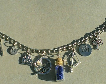 Hunger Games Inspired Charm Bracelet