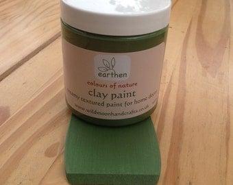 Clay Paint ~ Textured Matt Paint for Home Decor ~ Forest Green  250ml