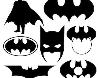 Batman svg silhouette pack - Batman clipart digital download - Batman monogram frame svg, png, dxf, eps