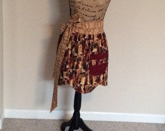 Woman's Half Apron Reversible