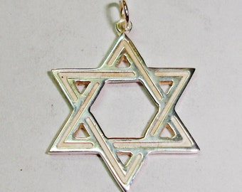 Hanging star of David sterling silver