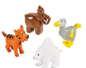Dino toys  (12), Dino toy, dinosaurs, mammals, party supplies, party favors, animals, cupcake toppers
