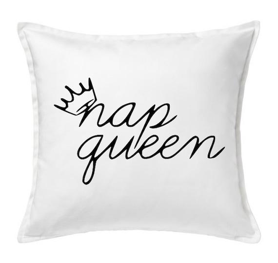 Nap Queen Pillow Cover Decorative PillowBlack by LuxePillowPalace
