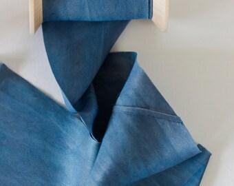 Silk ribbon - Indigo Blue 6cm width 2.80m long