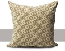 Half-Loop Pillow Cover - Brown Tan Neutral Decorative Toss Throw Cushion Indoor Large Oversized Patterned Cases