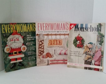 Set of 3 Vintage Holiday Magazines From December 1956/January 1957