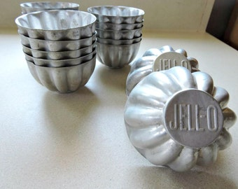 Vintage JELL-O Molds, 18X Aluminum