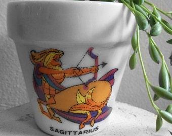 Vintage Sagittarius Planter