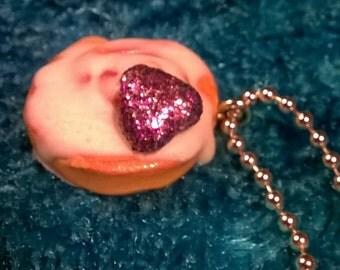 Shimmer Cinnamon Roll Ballchain Necklace