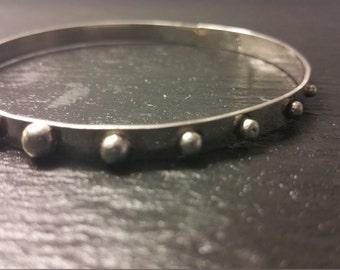 Sterling silver studded bangle