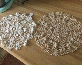 Two doilies