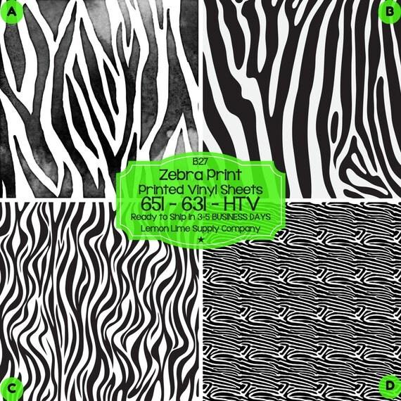 Zebra Animal Print Vinyl Printed Heat Transfer Vinyl Patterned