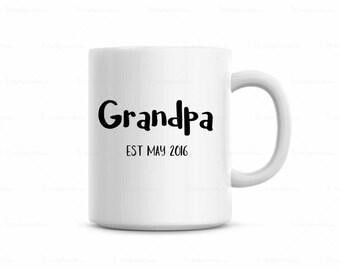 Grandpa Coffee Mug, Pregnancy Announcement Coffee Mug, Grandpa established mug, father's day gift, Fathers Day gift mug,Telling Dad pregnant