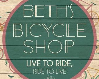 Custom Bicycle Shop Sign Digital Download