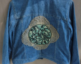 SALE!!  Upcycled Vintage Women's Jean Jacket