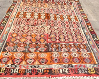 11 x 6 ft Rare handwoven vintage turkish kilim rug