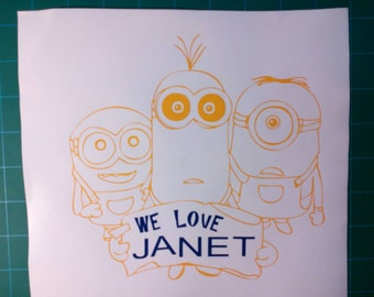Minions holding sign