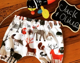 Animal print bloomers for 6-12 month old baby