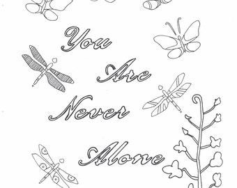 You are never alone coloring page
